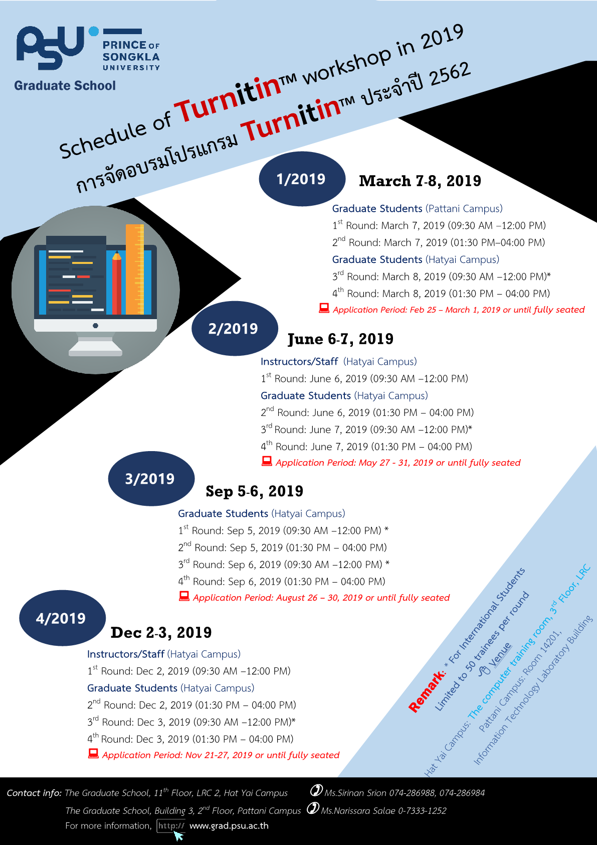 Announcement Turnitin workshop 2019